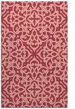 rug #254465 |  pink damask rug