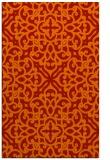rug #254493    orange damask rug