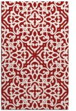 rug #254497    red damask rug