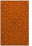 rug #254513 |  red-orange traditional rug