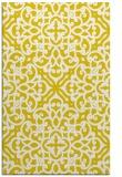rug #254549 |  yellow traditional rug