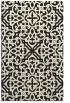 rug #254557 |  black damask rug