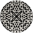 rug #254605 | round black traditional rug
