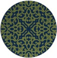 rug #254637 | round blue traditional rug