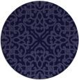 rug #254685   round blue-violet rug