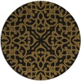 rug #254717 | round mid-brown damask rug