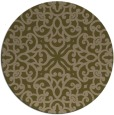 rug #254721 | round mid-brown traditional rug