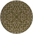 rug #254721 | round mid-brown damask rug