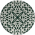 rug #254735 | round damask rug