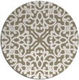 rug #254741 | round mid-brown traditional rug