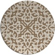 rug #254753 | round mid-brown damask rug