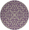 rug #254781 | round purple traditional rug