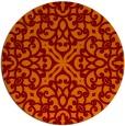 rug #254789 | round orange traditional rug