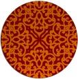 rug #254790 | round damask rug