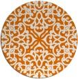 rug #254793 | round orange damask rug