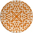 rug #254793 | round orange traditional rug