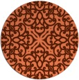 rug #254801 | round red-orange damask rug