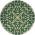 rug #254805 | round yellow traditional rug