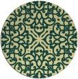 rug #254805 | round yellow damask rug