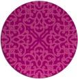 rug #254809 | round pink damask rug