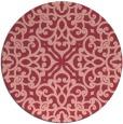 rug #254817 | round pink damask rug