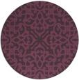 rug #254825 | round purple traditional rug