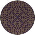 rug #254833   round mid-brown damask rug