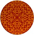 rug #254845 | round red traditional rug
