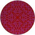 rug #254853 | round red damask rug