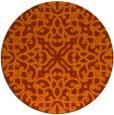 rug #254857 | round red-orange damask rug