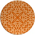 rug #254861   round red-orange traditional rug