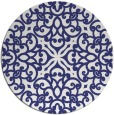 rug #254881 | round blue traditional rug