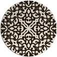 rug #254897 | round brown damask rug