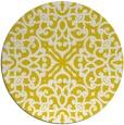 rug #254901   round yellow damask rug