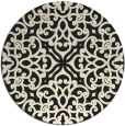 rug #254909 | round black traditional rug