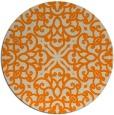rug #254917 | round beige damask rug
