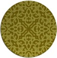 rug #254921 | round light-green damask rug
