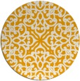 rug #254937 | round light-orange damask rug