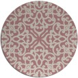 rug #254941 | round pink traditional rug