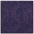 rug #257161 | square purple circles rug