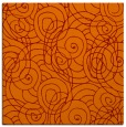 rug #257253 | square red-orange circles rug