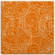 rug #257257   square orange circles rug