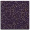 rug #257297 | square purple circles rug