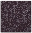 rug #257301 | square purple circles rug