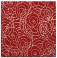 rug #257313   square red circles rug