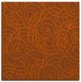 rug #257329 | square red-orange circles rug