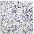 rug #257345 | square blue circles rug