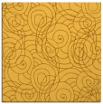 rug #257369 | square yellow circles rug