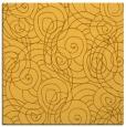 rug #257369 | square light-orange circles rug