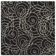 rug #257373   square black circles rug